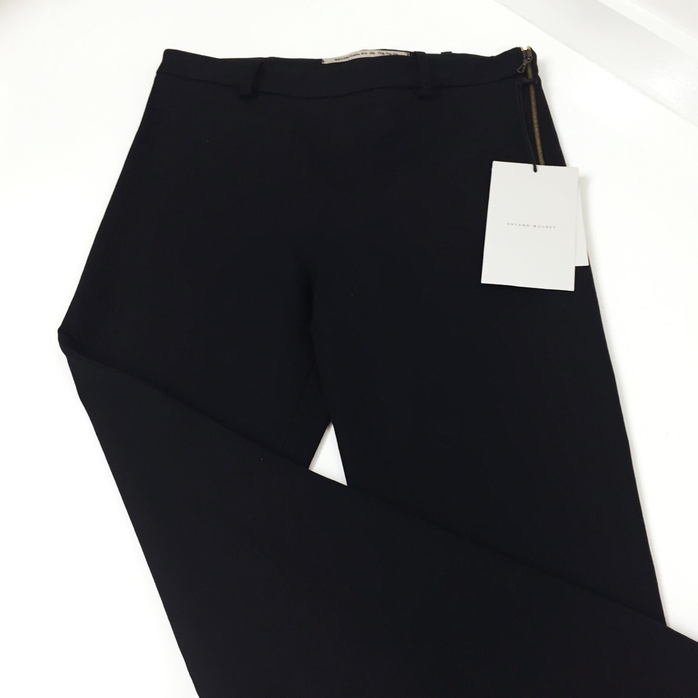 We shortened these Stella McCartney full-flare hem trousers...