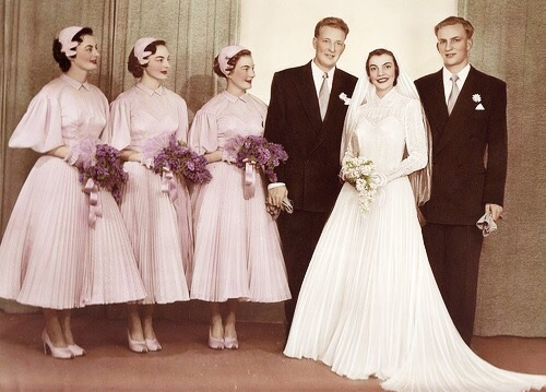 1950s Bridesmaid Dresses