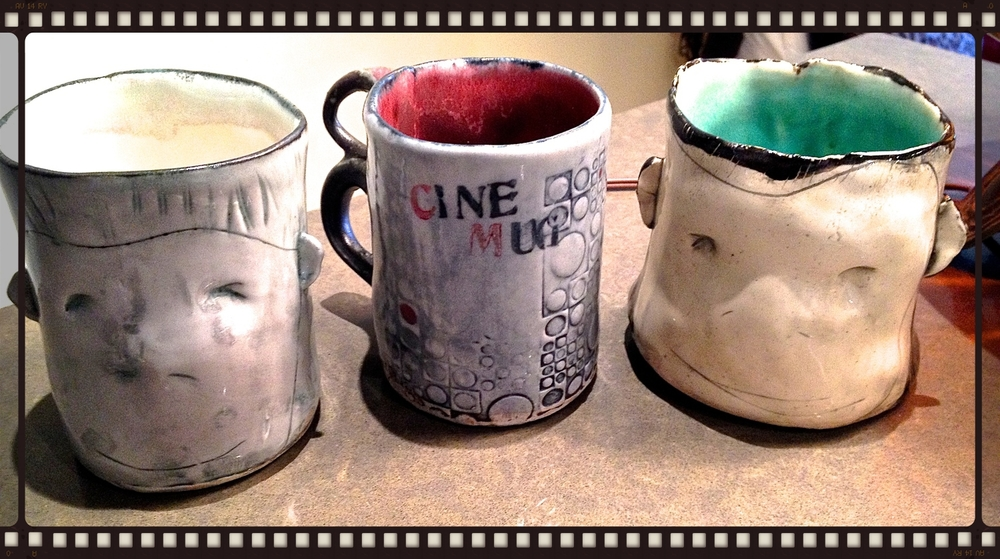 Mugs by local artist Corey Weiser-Vahey