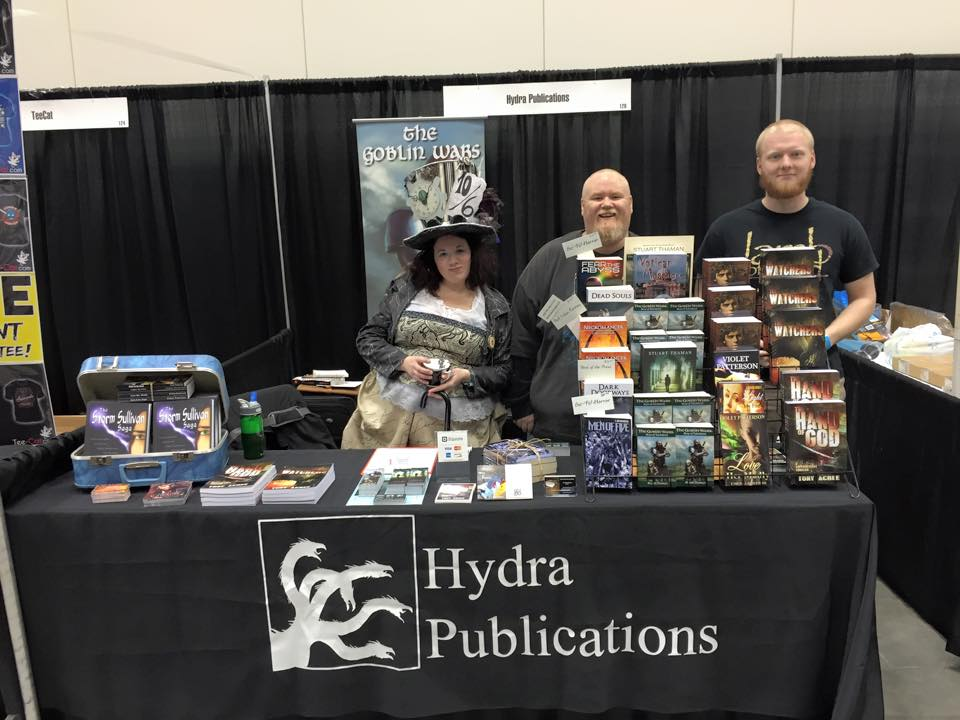 The booth. I shared space with  Tony Acree ,  Violet Patterson , and  C. Bryan Brown.