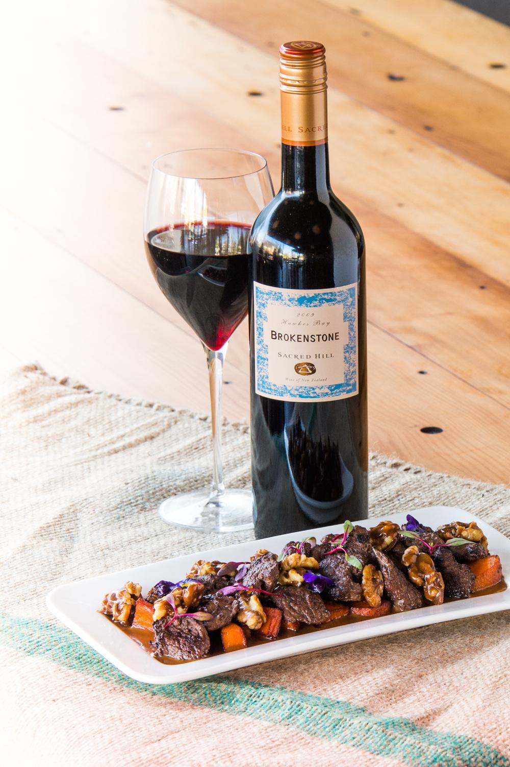 Wine and Food shoot, Hawkes Bay.