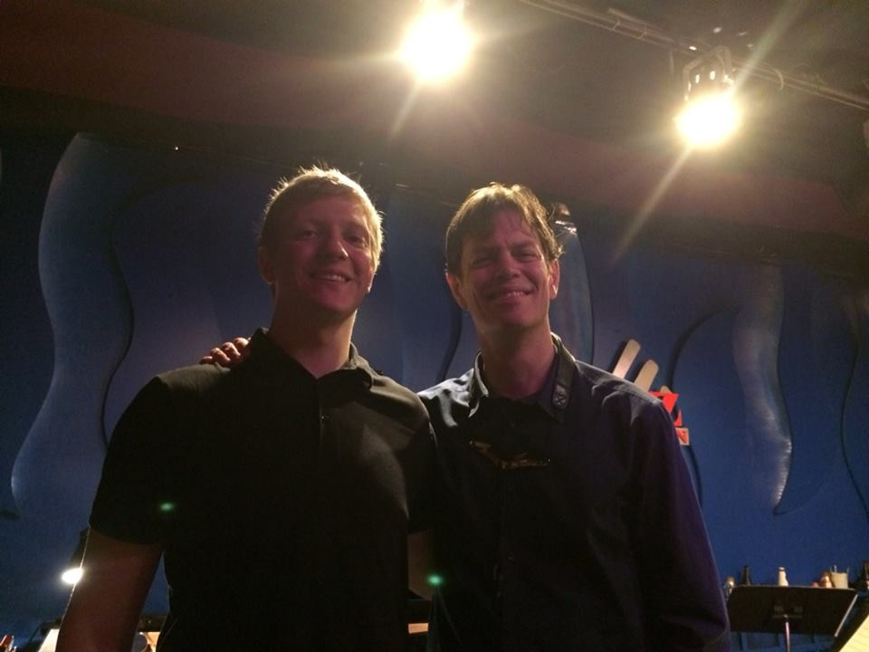 Tucker Woerner and Donny McCaslin after their last set at the Jazz Kitchen - March 2014