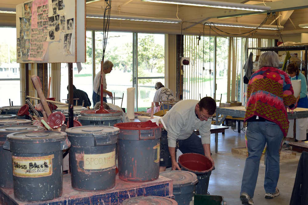 Sunnyvale Pottery Studio offers 22 glazes plus multiple stains and   slips.