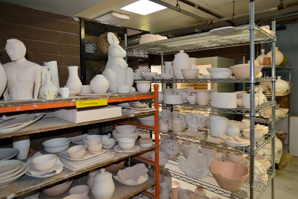 Bisqueware ready for glazing.