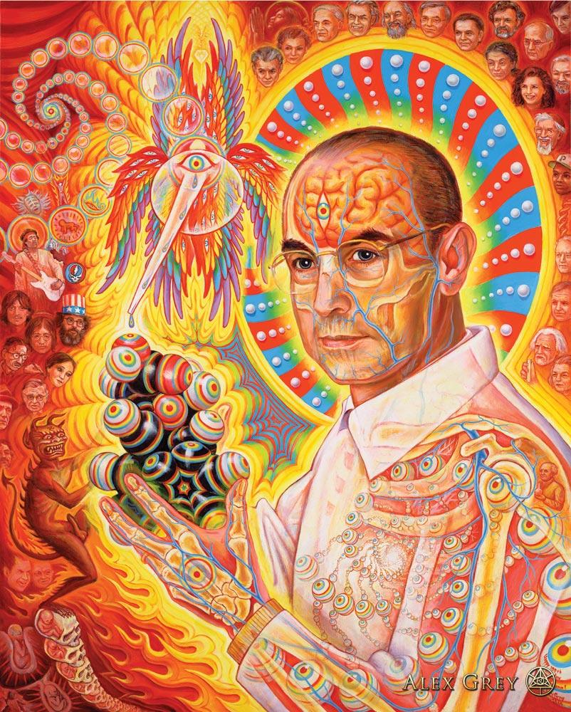 St. Albert and the LSD Revelation Revolution, by Alex Grey