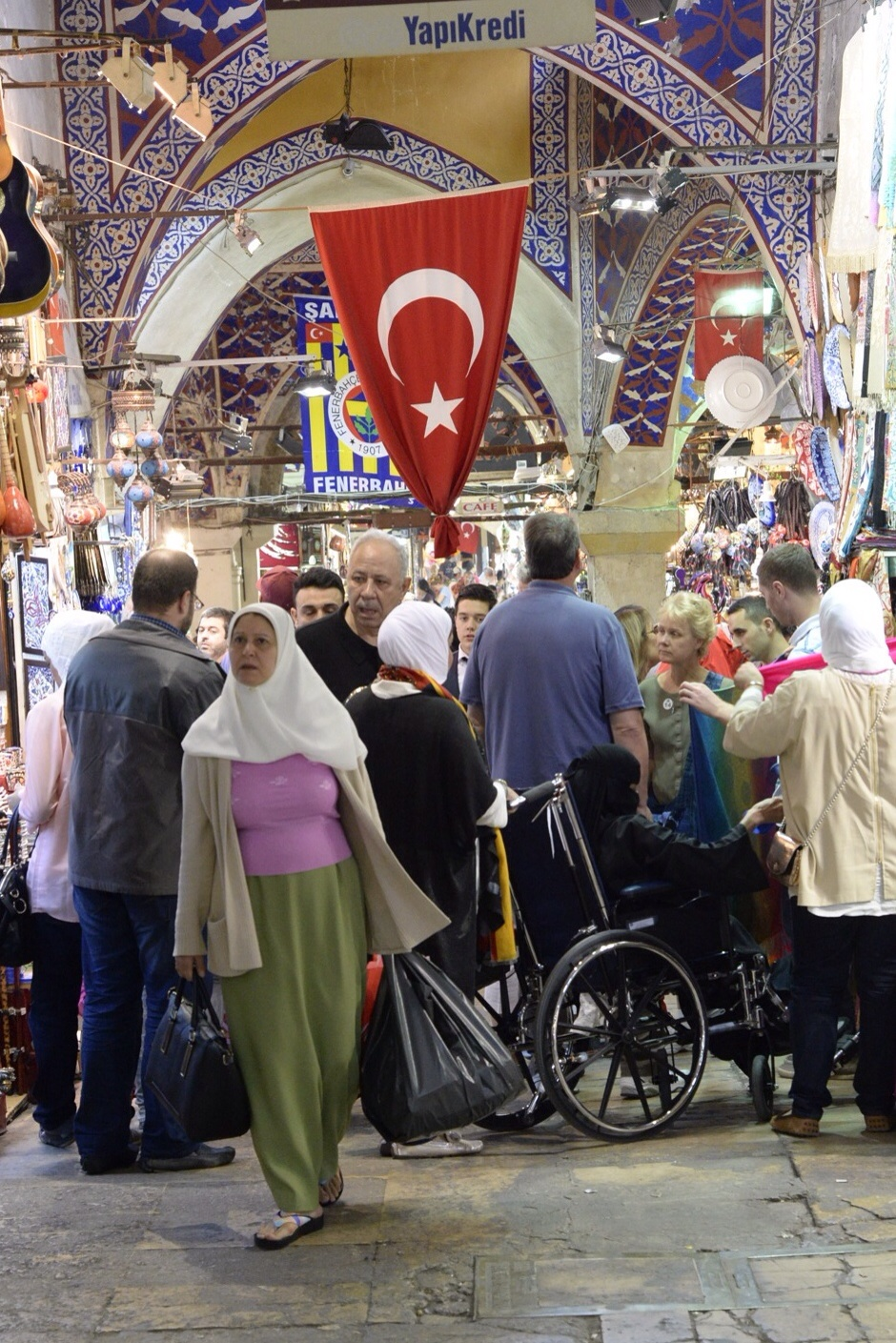 The Grand Bazaar is nearly always crowded with people from many places as well as locals from around the corner.