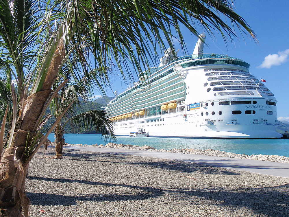 NOS docked at Labadee