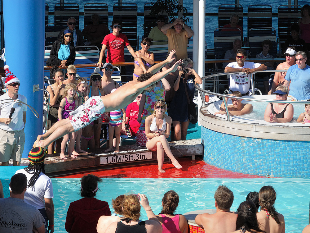 Pool deck- Belly Flop Competition