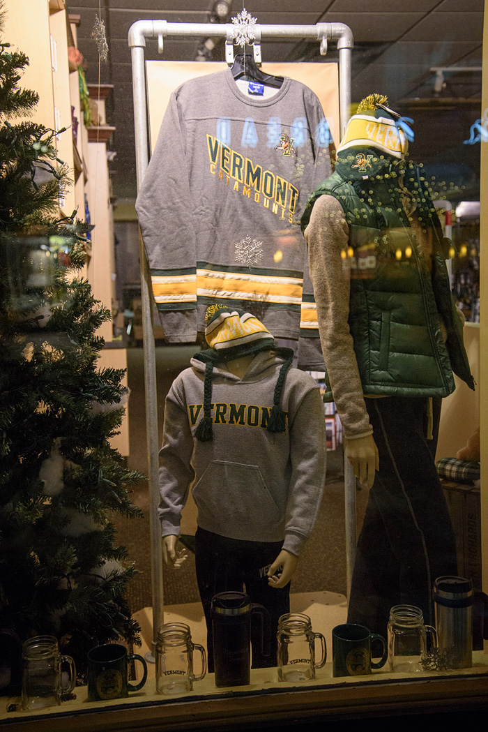 Lots of local shops, including an outlet of the UVM bookstore!