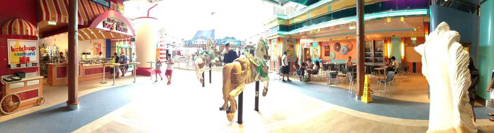 The Dog House, Ice cream shop, and carousel on the Boardwalk