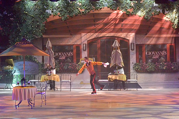 Studio B also hosts the ice rink and ice show...It looks like Central Park, but it's just a set for the ice show!