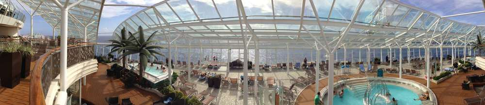 A panorama of the Solarium pools