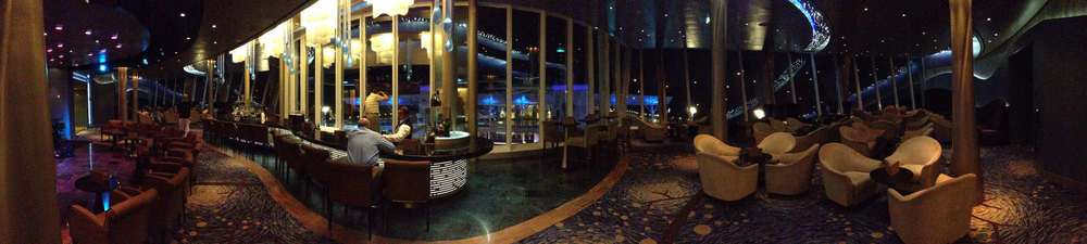 The Viking Crown lounge at night has n entirely different feel