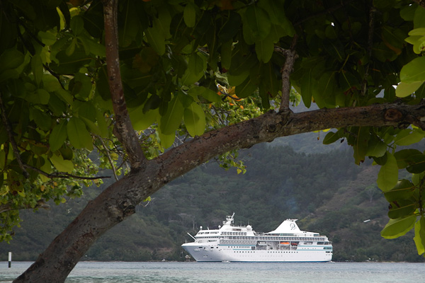 The Paul Gauguin at Anchor in Moorea