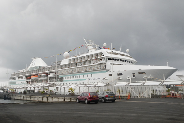 The PG at it's embarkation port of Papeete Tahiti