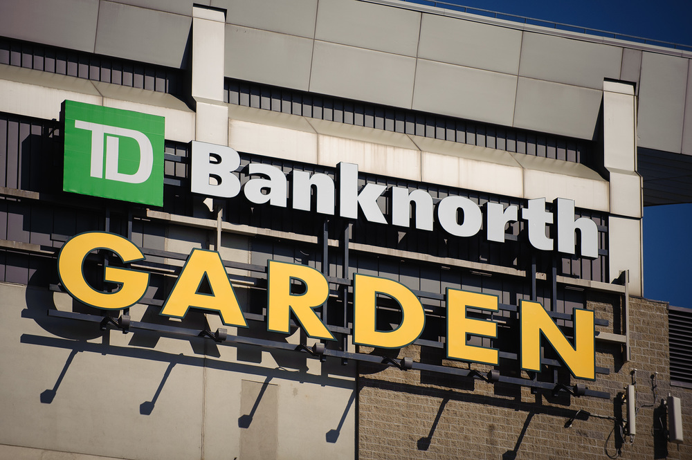 Both the Bruins and the Celtics play at the TD Banknorth Garden