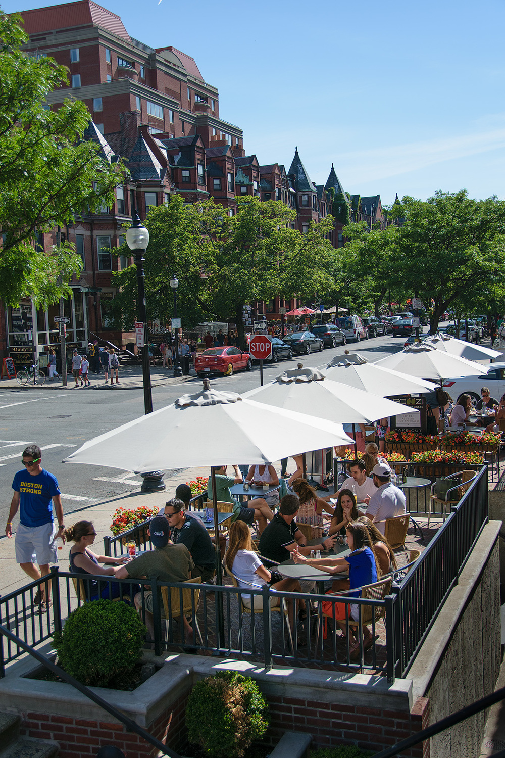 After a visit to the Boston Marathon Finish Line, historic Newbury Street shops and cafes are just around the corner!