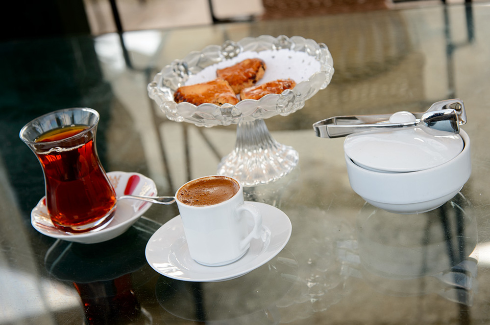 A quick stop at a cafe (like this one in Istanbul) for a little snack can restore everyone's energy levels.