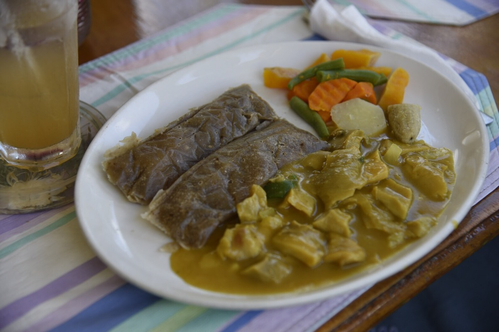 Curried conk and ducana