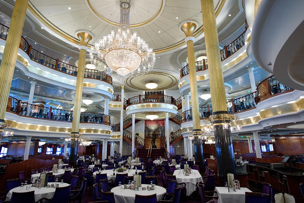 Dining Room, Deck 3 Vivaldi, Deck 4 Srauss, Deck 5 Mozart