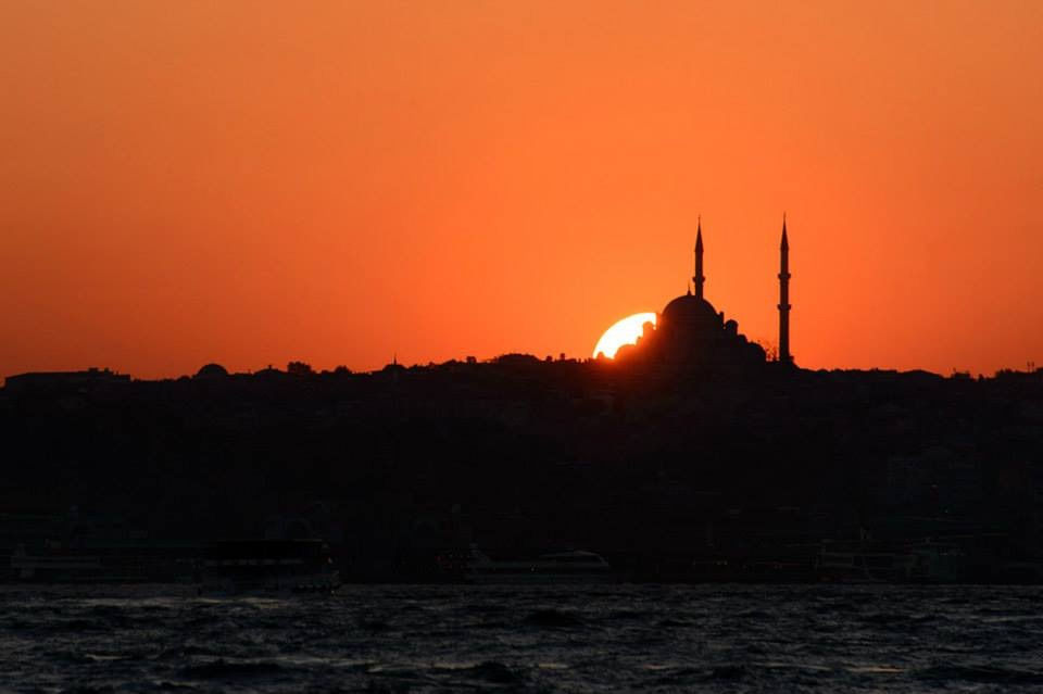 Jeff was shooting Istanbul at sunset when a stranger asked him to take her photo..