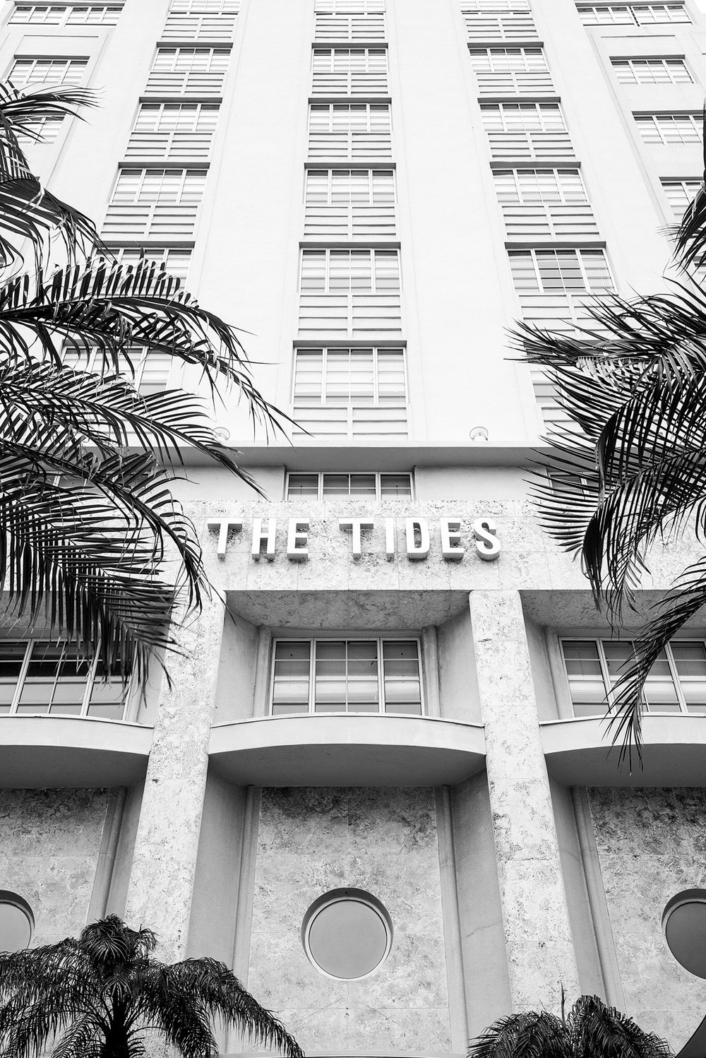 The Tides hotel also has port hole details.
