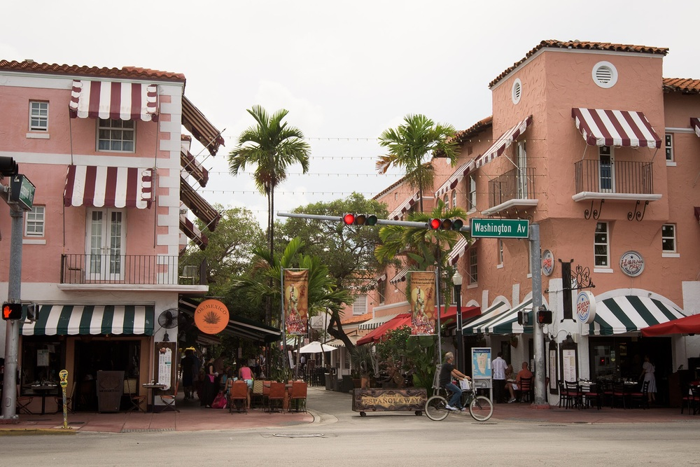 Espanola Way has examples of Mediterranean architecture.