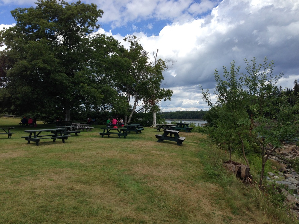 The picnic tables proved a place for an afternoon picnic or to enjoy the Monday Night concerts offered by different community musical groups all summer.