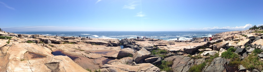 The panoramic view of Schoodic Point and it's dramatic ocean action.