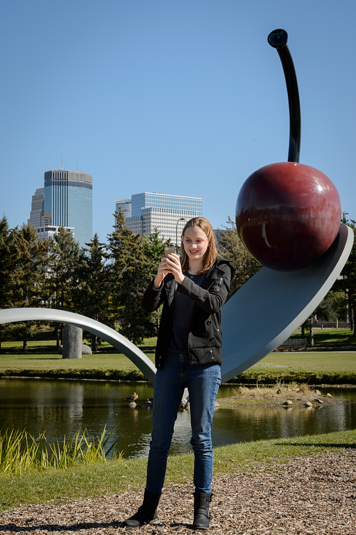 Not getting into a top choice school wasn't much fun, but seeing the cherry on the spoon in the Minneapolis Sculpture Garden was! (J. Klofft)