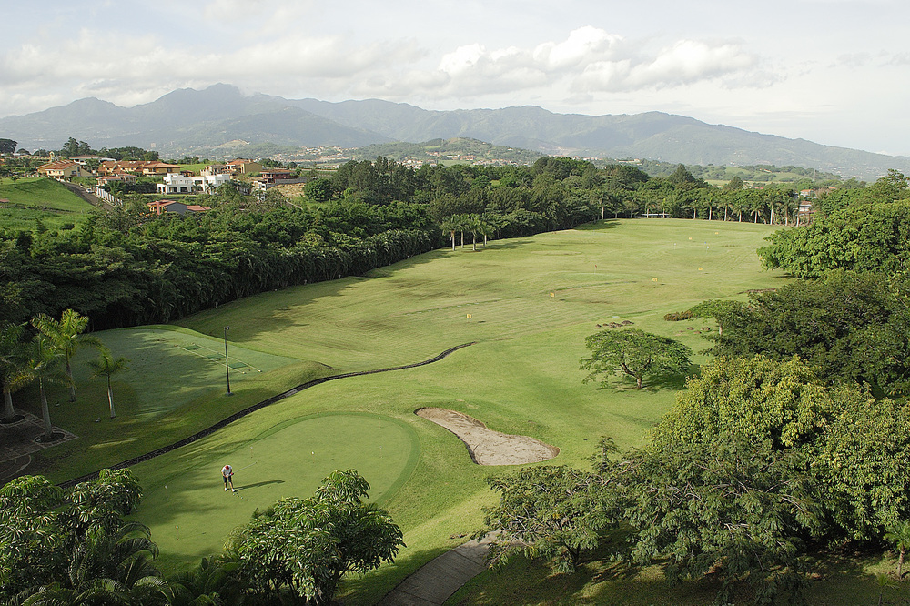 View from the JW Marriot across the golf course which was once a coffee plantation.