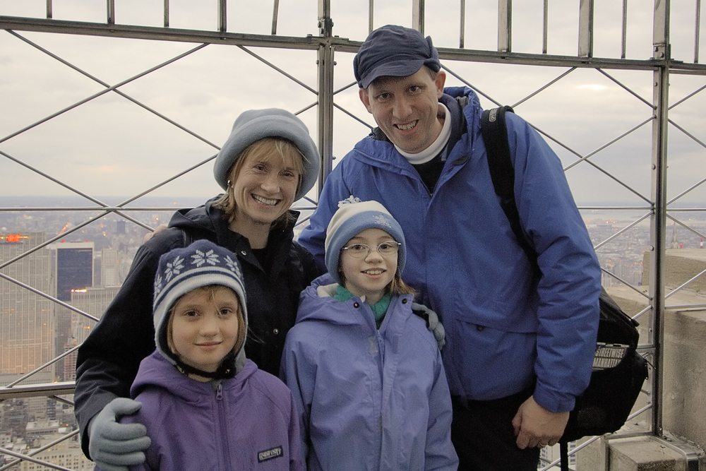 The cold didn't bother us at the top of the Empire State Building in February, but we enjoyed the fact that there was no wait for the elevator!