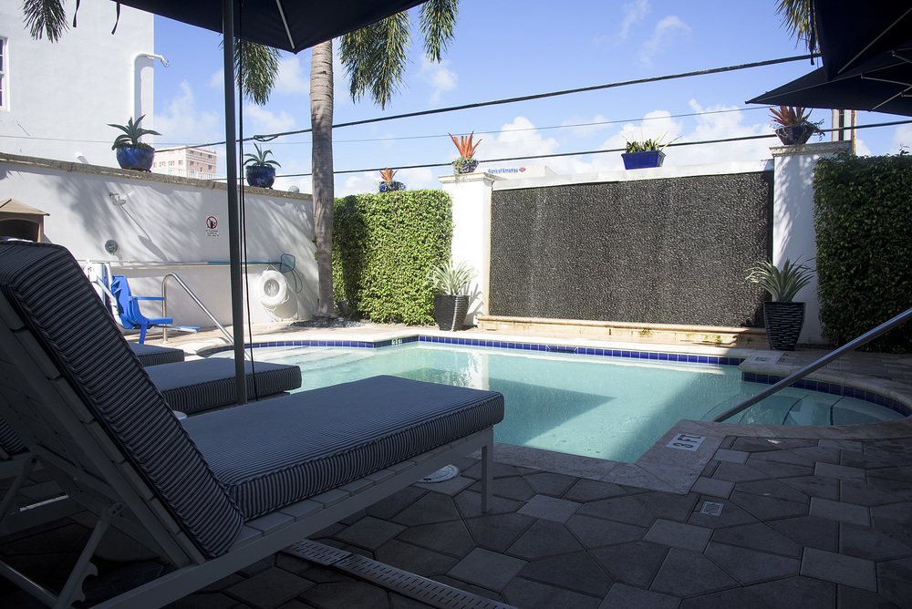 The South Beach boutique hotel pool is necessary in mid June, but a room there is half the price as it might be In January!