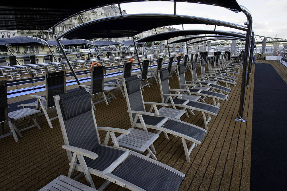 Covered Sun Deck- to the rear is the smoking areaObO