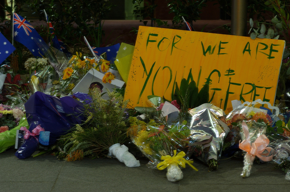 A memorial in Sydney to the victims of the 2002 Bali Bombing