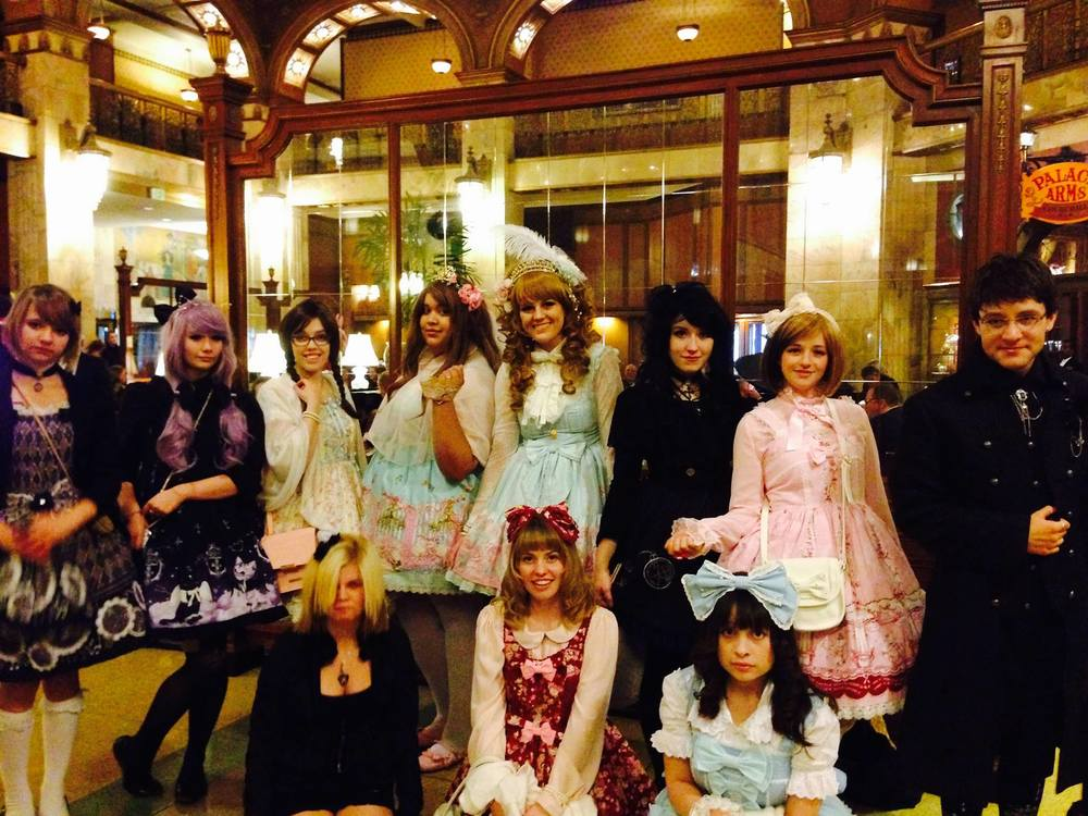 "These young people enjoyed dressing up in Harajuku ""Sweet Lolita"" and ""Goth Lolita"" style (Harajuku a popular street in Tokoyo where people dress up and stroll) The period of their dress also matches the period of the hotel, so this group met for a fun afternoon tea party at the Brown and an evening out in Denver."