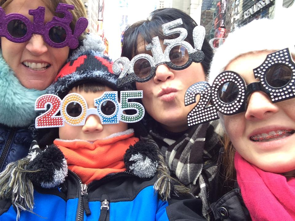 Our friend Lisa Marie Spinney (third from left) fulfilled one of her bucket list items when she celebrated New Years Eve in Times Square...and lived to tell about it!