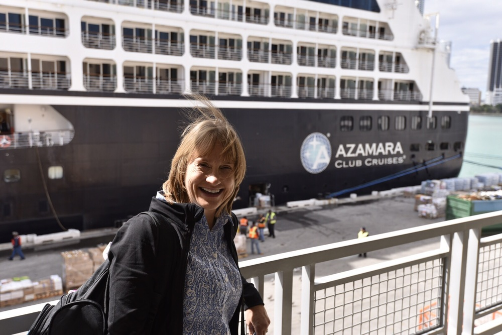 Boarding the Azamara Journey