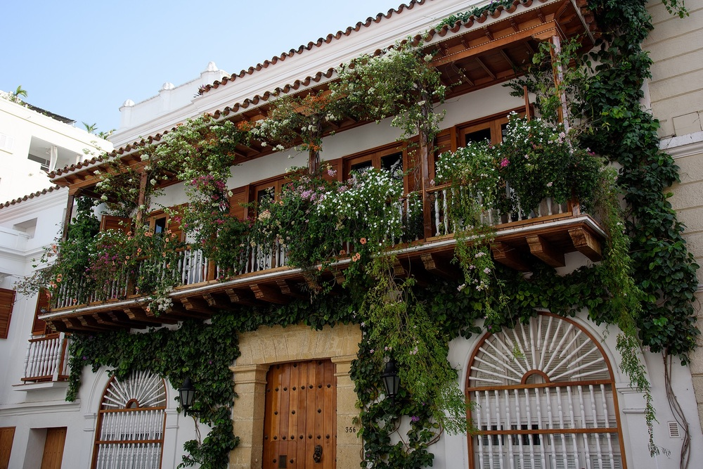 The colorful Spanish Colonial old city of Cartegena