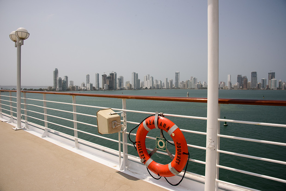 Cruising into Cartagena aboard Azamara Journey