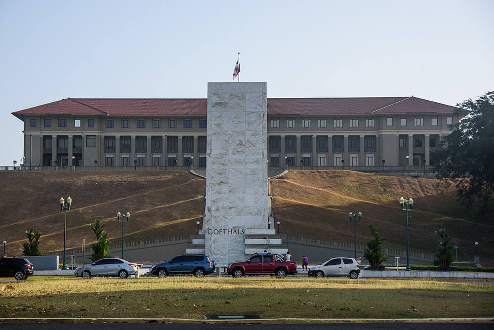 The former US administration building in the Canal Zone in Balboa, named for the first Panama Canal governor, George Goethals