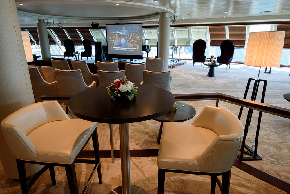 Living Room facing the bow of the ship