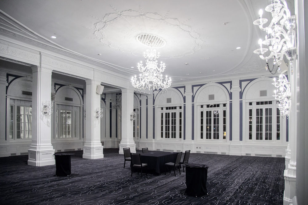 The ballroom at the Renaissance Albany Hotel
