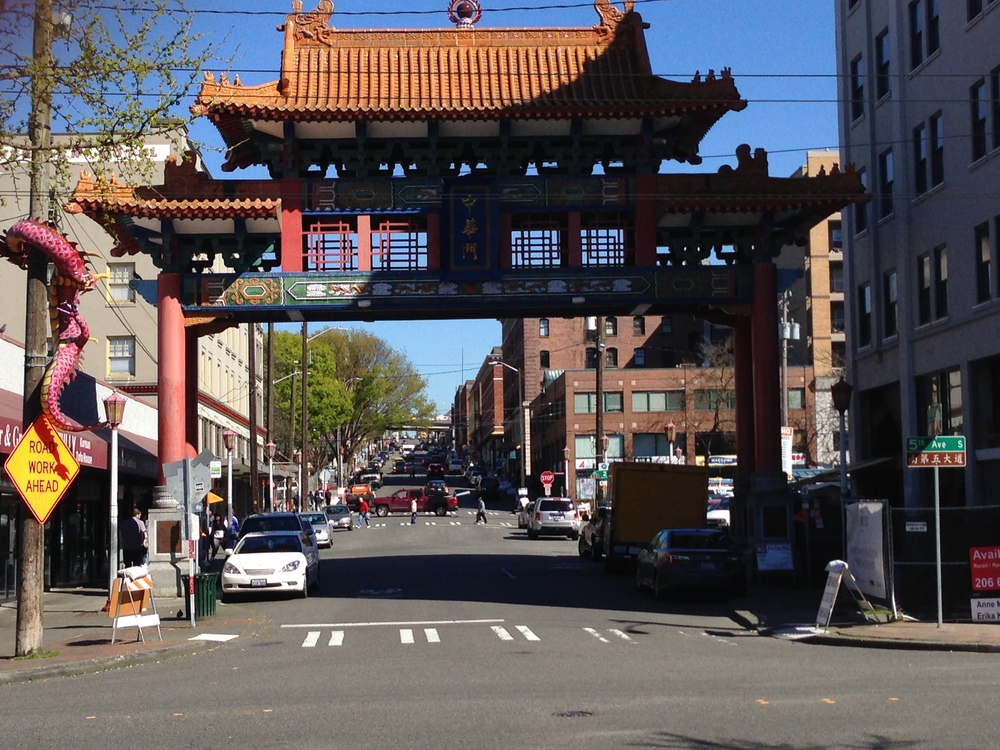 The gate to China Town