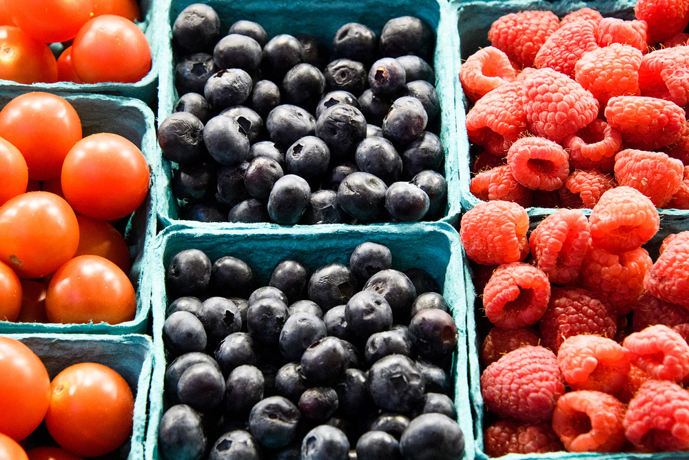 Berries at the Pike Place Fish Market