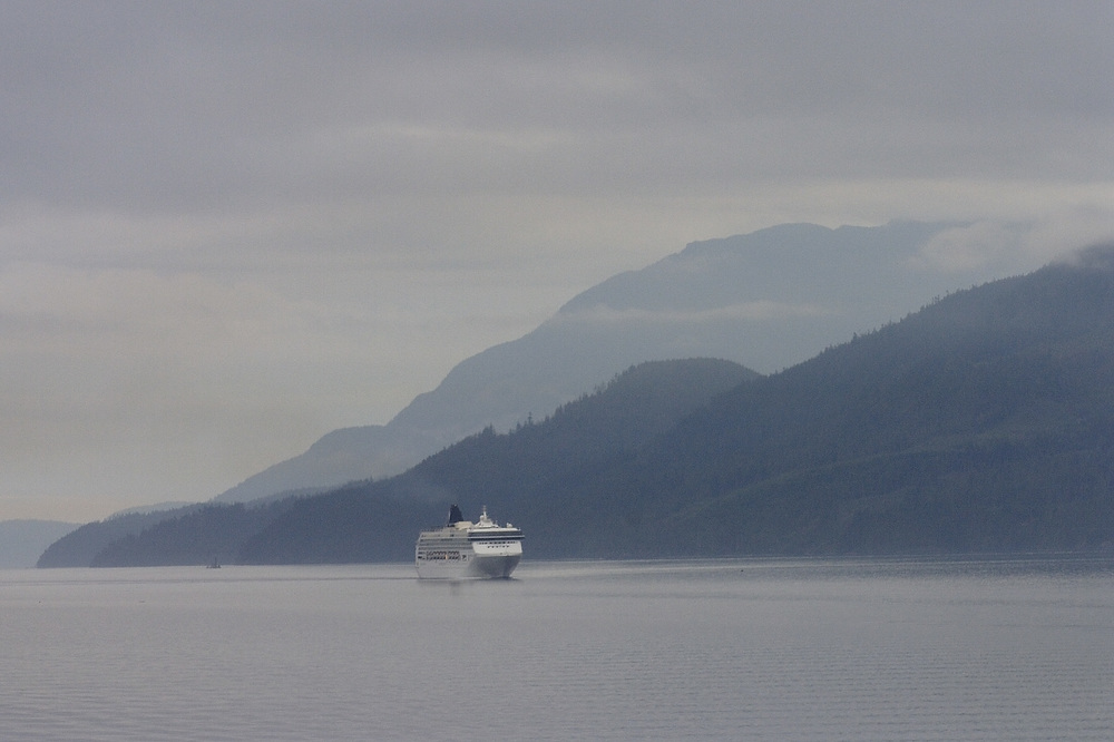 A cruise ship in the Johnston Straight