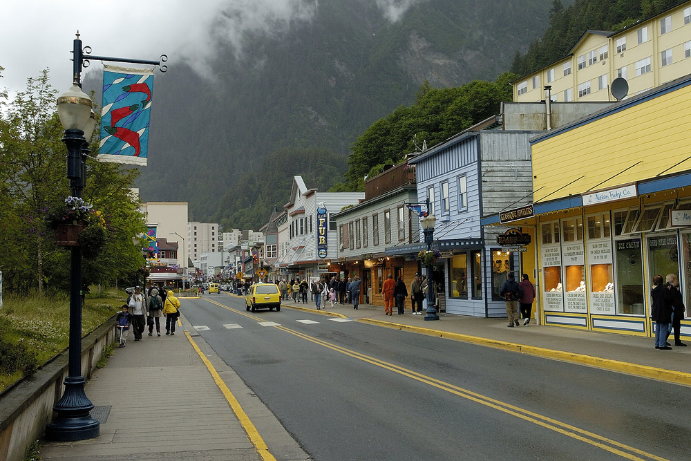 The port area in Juneau