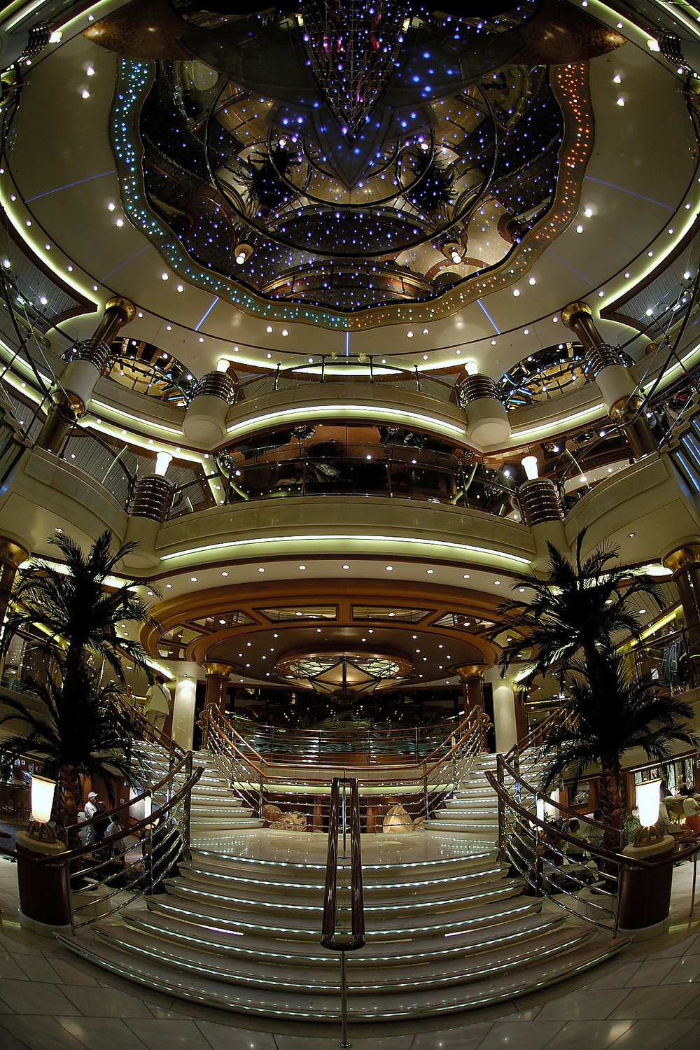 The lobby of Coral Princess
