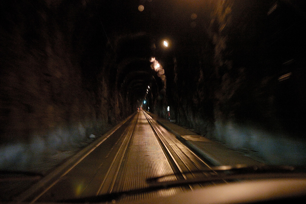 Inside the Anton Anderson Tunnel