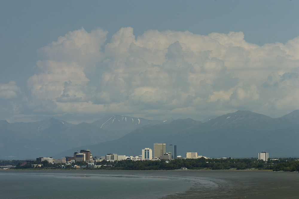 Anchorage from the Tony Knowles Coastal Trail